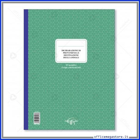 Dichiarazione di provenienza animali da allevamenti 25 moduli 4 copie autoricalcanti CieRre CR243