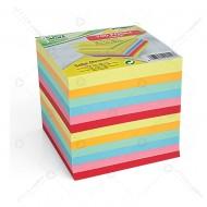 Blocco collato carta colorata, cubo da 700 fogli per appunti dorso incollato Lebez J-9911