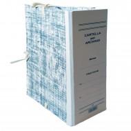 Cartella Archivio con Legacci Realizzata in Cartone Rivestito Dorso 15 cm.