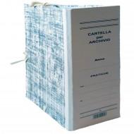 Cartella Archivio con Legacci Realizzata in Cartone Rivestito Dorso 20 cm.