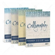 Carta Pergamena Bianco A4 190g Calligraphy 50 Fogli cartoncino nuvolato dal sapore antico Favini A690084