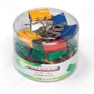 Molle Double Clip in metallo, colori e peso assortiti, statola da 60 Pezzi Lebez 566