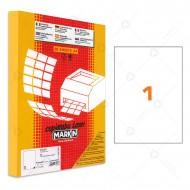 Etichette in poliestere Trasparente lucido A4 210x297mm 1 Adesivi 50 Fogli Markinl LTGC503