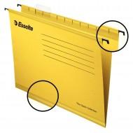 """Cartelle Sospese Giallo Pendaflex Standard 390 con Fondo """"V/3cm"""" - Confezione 25 pezzi - Esselte 90335"""