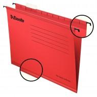 """Cartelle Sospese Rosso Pendaflex Standard 390 con Fondo """"V/3cm"""" - Confezione 25 pezzi - Esselte 90336"""