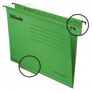 """Cartelle Sospese Verde Pendaflex Standard 390 con Fondo """"V/3cm"""" - Confezione 25 pezzi - Esselte 90337"""