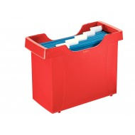 Contenitore archivio rosso Mini File Plus per cartelle sospese (Include 5 cartelle sospese Alpha blu) - Leitz 19930325