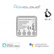 Modulo mini Interruttore Intelligente Wi-Fi da incasso a 1 canale compatibile con Google Home e Amazon Alexa Homcloud AS-MM1