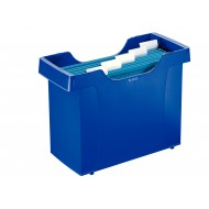 Contenitore archivio blu Mini File Plus per cartelle sospese (Include 5 cartelle sospese Alpha blu) - Leitz 19930335