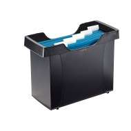 Contenitore archivio nero Mini File Plus per cartelle sospese (Include 5 cartelle sospese Alpha blu) - Leitz 19930395