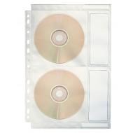 Busta a Foratura Universale A4 in Polipropilene Ideale per contenere 4 CD/DVD - Confezione 10 pezzi - 67688