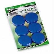Bottoni Magnetici Blu Diametro 30mm x 12 pezzi MR-30-BL