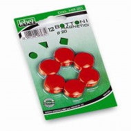 Bottoni Magnetici Rosso Diametro 20mm x 12 pezzi MR-20-R