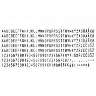 Set caratteri per timbri autoinchiostranti F334 - Wiler S623