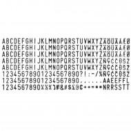 Set Caratteri per Timbri S624 per Autoinchiostranti Wiler F334