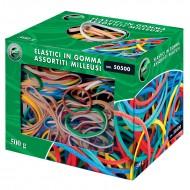 Elastici Assortiti Vari Colori 500g - Lebez 50500