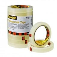Nastro Adesivo Trasparente 550 di Alta Qualità 15mm x 66m - Scotch 550-1566