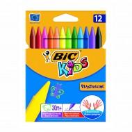 Pastelli Colorati Plastidecor Astuccio da 12 - Bic Kids 829770
