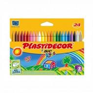 Pastelli Colorati Plastidecor Astuccio da 24 - Bic Kids 829772