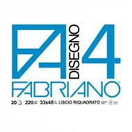 Album Disegno 4 Liscio Riquadrato 33x48 - Fabriano 05201797