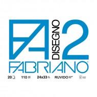 Blocco Disegno 2 Liscio Riquadrato 24x33 - Fabriano 06000516