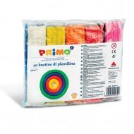 Bustine di Plastilina 10 Pezzi Vari Colori morbida 550g Primo Ref. 269PP10