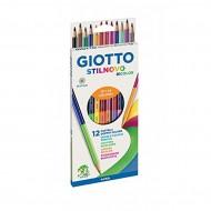 Pastelli Stilnovo Bicolor Astuccio da 12 - Giotto Fila 256900