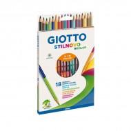 Pastelli Stilnovo Bicolor Astuccio da 18 - Giotto Fila 257200