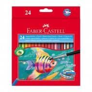Matite Colorate Acquerellabili Astuccio da 24 - Faber Castell 114425