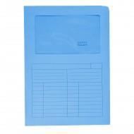 Cartelline Con Finestre Azzurre Sintex 22x31cm 120g Confezione da 50 - Blasetti 572
