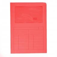 Cartelline Con Finestre Roso Sintex 22x31cm 120g Confezione da 50 - Blasetti 581