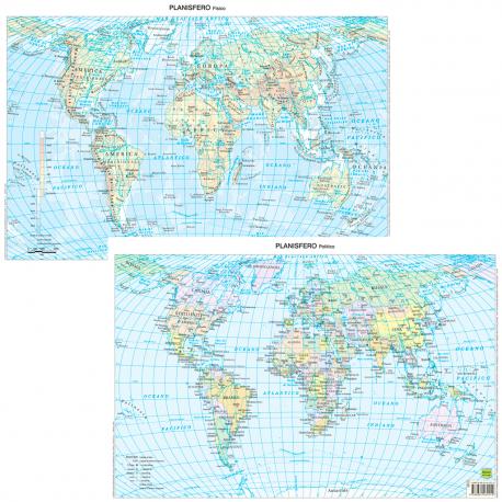 Mappamondo Cartina Geografica.Belletti Mappamondo Carta Geografica Planisfero Fisico Politico