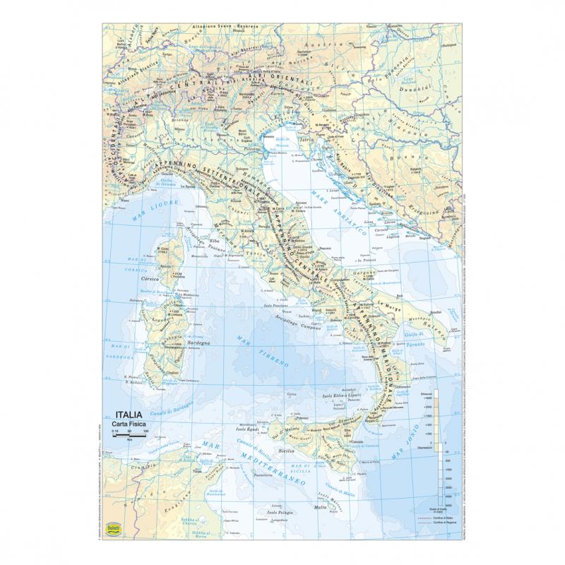 Immagini Cartina Italia Politica.Belletti Italiao Carta Geografica Planisfero Fisico Politico