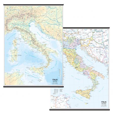 Belletti italiao Carta Geografica Planisfero Fisico - Politico 34e7c0913213