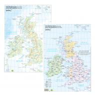 Cartina Inghilterra Politico-Fisico - Belletti BS31P