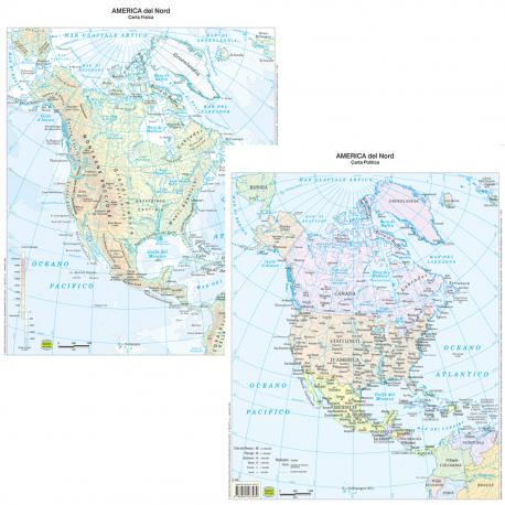 Cartina Fisico Politica Usa.Cartina Geografica America Del Nord Politica