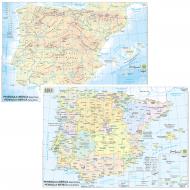 Cartina Penisola Iberica Politico-Fisico - Belletti BS28P