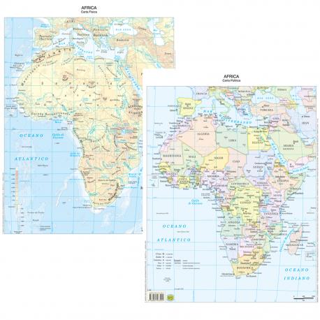 Africa Cartina Geografica Politica.Belletti Carta Geografica Africa Fisico Politico