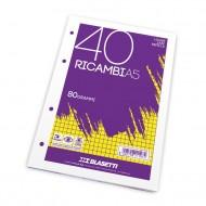 "Ricambi A5 Rigatura ""1R"" 40 fogli da 80g - Blasetti 1194"