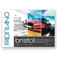 Bristol Blocchi Collati 1 Lato A4 (21x29.7cm) 20 fogli da 250gr - Fabriano 19002129