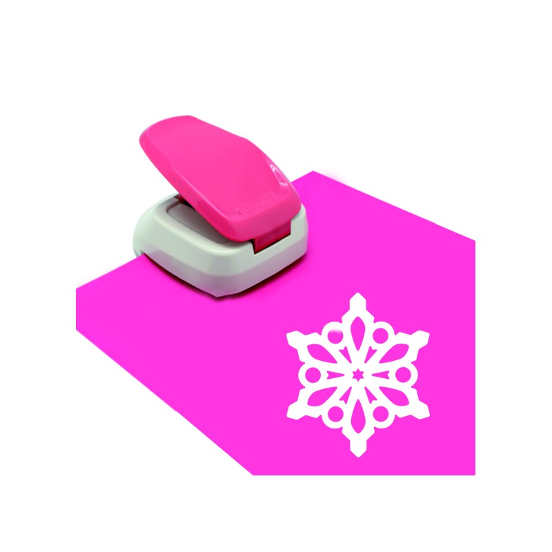 Slitta da Neve com-four/® 4 Fiocchi di Neve 04 Pezzo - Motivo Slitta con Motivo nel Manico in Colori freschi e Colorati