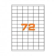 Etichette adesive permanenti prefustellate in fogli A4 per stampanti, etichetta autoadesiva bianca 35x23,5mm Finlogic A43523.5
