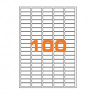 Etichette Permanenti 37x14mm 100 Adesivi 100 Fogli Premium - Finlogic A43714