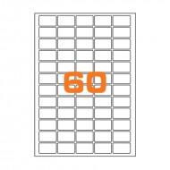 Etichette adesive permanenti prefustellate in fogli A4 per stampanti, etichetta autoadesiva bianca 37,5x23,5mm Finlogic A4375235