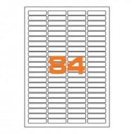 Etichette Permanenti 46x11.1mm 84 Adesivi 100 Fogli Premium - Finlogic A44611.1