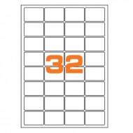 Etichette Permanenti 47.5x35mm 32 Adesivi 100 Fogli Premium - Finlogic A447.535