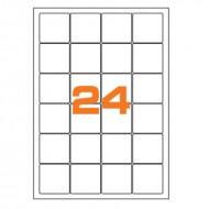 Etichette Permanenti 47.5x46.5.5mm 24 Adesivi 100 Fogli Premium - Finlogic A447.546.5