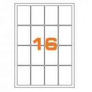 Etichette Permanenti 47.7x70mm 16 Adesivi 100 Fogli Premium - Finlogic A447.770