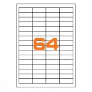 Etichette Permanenti 48.5x16.9mm 64 Adesivi 100 Fogli Premium - Finlogic A448.516.9