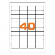 Etichette Permanenti 48.5x25.4mm 40 Adesivi 100 Fogli Premium - Finlogic A448.525.4
